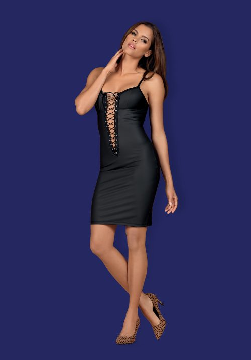 "zdj glowne obsessive redella dress 500x717 - OBSESSIVE RedellA ""S  Black dress- super viliojantis vaizdas!"